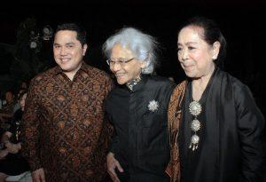 Erick Thohir, Srihadi Soedarsono, dan Farida Srihadi
